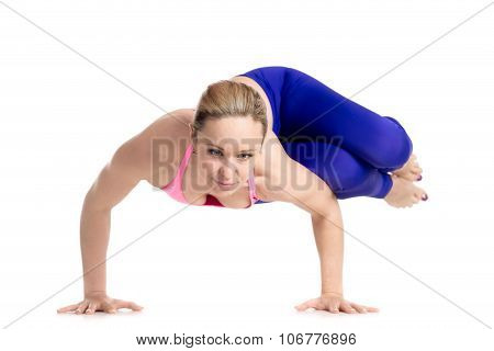 Side Crane (crow) Pose