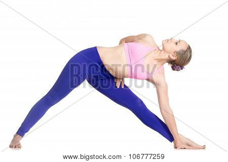 Variation Of Utthita Trikonasana Pose