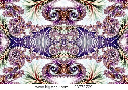 Multicolored Background With Spiral Pattern. Collection - Oriental Tales. Artwork For  Desig