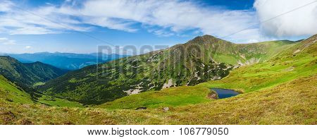 Alpine Lake Brebeneckul On Summer Mountains