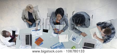 Group of Business People Discussing Business Concept