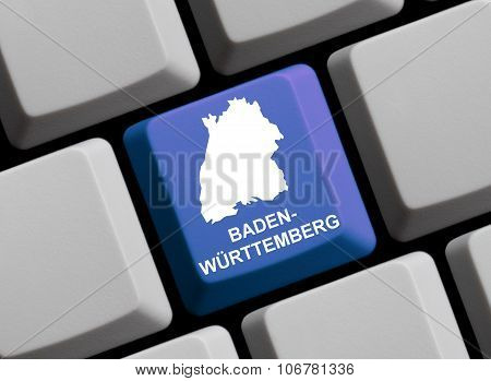Computer Keyboard - German Federal State Baden-wuerttemberg