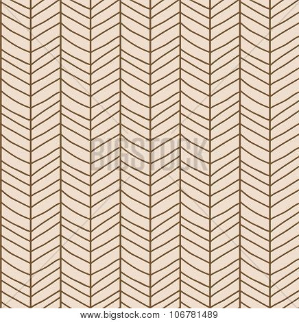 Seamless Pattern With Hand Drawn Chevron Line Grid, Vector Illustration