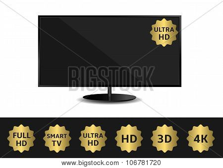 TV and ribbon set