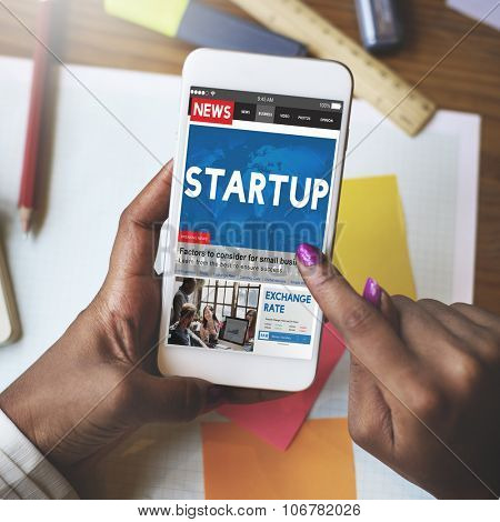 Start Up Growth Launch Business Success Connecting Concept