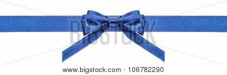 Blue Ribbon And Symmetric Bow With Vertical Ends