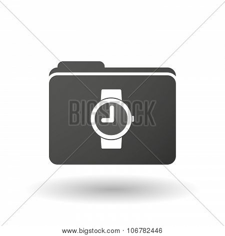Isolated Binder With A Wrist Watch