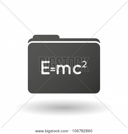 Isolated Binder With The Theory Of Relativity Formula