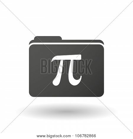 Isolated Binder With The Number Pi Symbol
