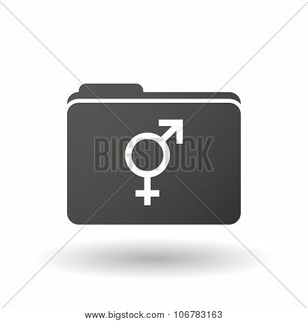 Isolated Binder With A Transgender Symbol