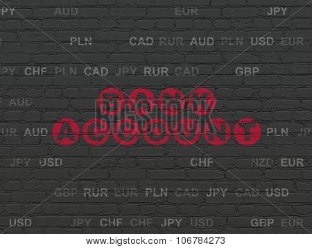 Banking concept: Bank Account on wall background