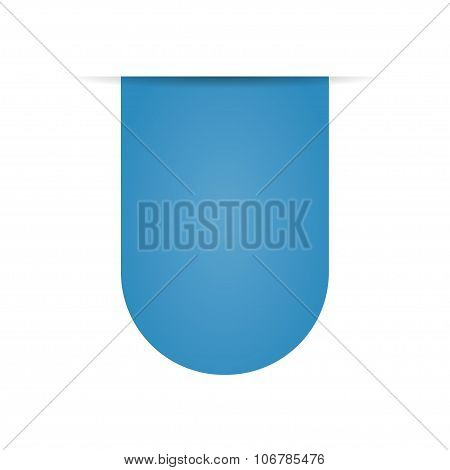 Blue Bookmarks On A White Background With Shadow