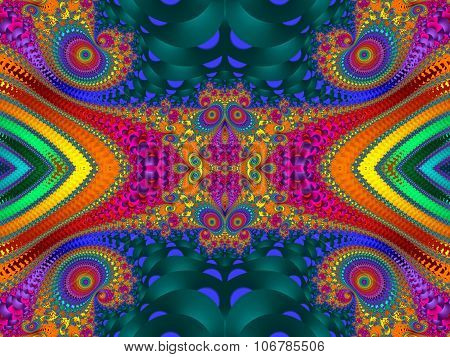 Fabulous Colorful Abstract Background. Artwork For Creative Design