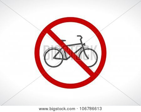 bicycle stop forbidden icon sign