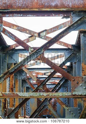 Old Rusty Beams And Girders