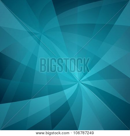 Cyan abstract twisted pattern background