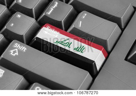 Enter Button With Iraq Flag