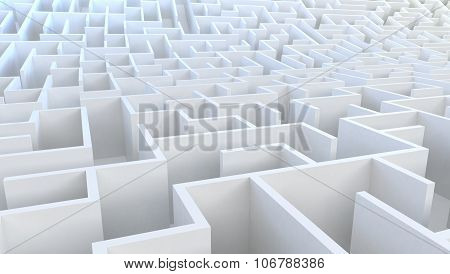 3D Maze in aerial view