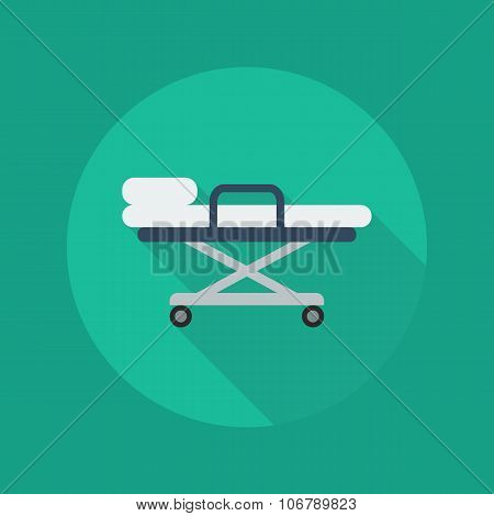 Medical Flat Icon. Stretcher