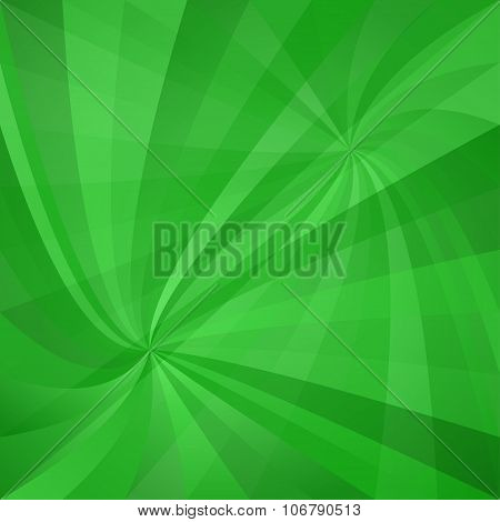 Green twisted design background
