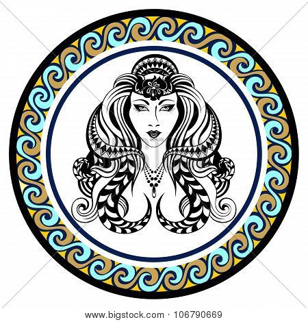 Decorative Zodiac sign Virgo
