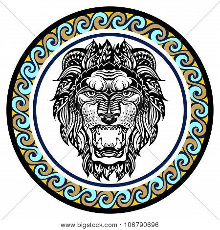 Decorative Zodiac sign Leo