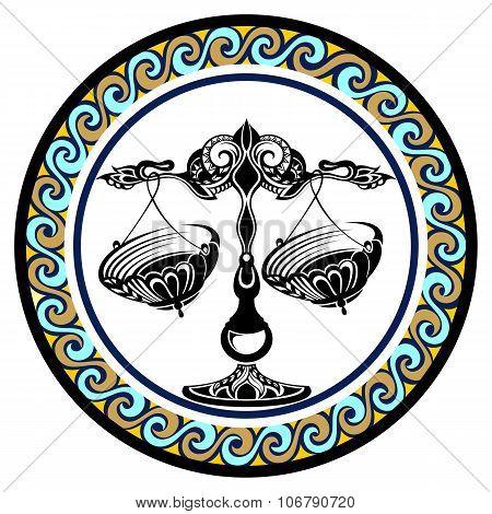 Decorative Zodiac sign Libra