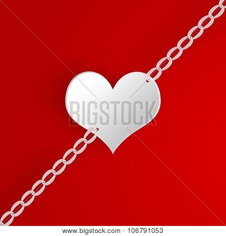 Illustration of heart on chain.