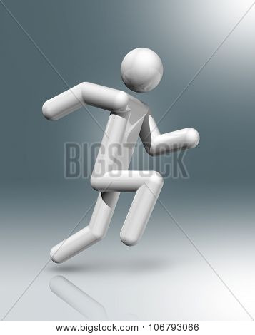 Athletics 3D Symbol, Sports