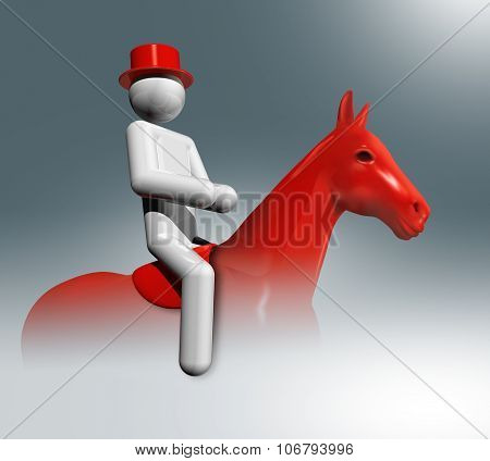 Equestrian Dressage 3D Symbol, Olympic Sports
