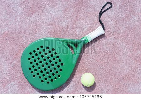 Paddle Racket And Ball.