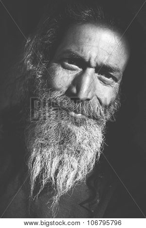 Indigenous Senior Indian Man Looking Camera Concept