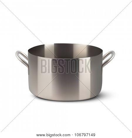 vector steel pot