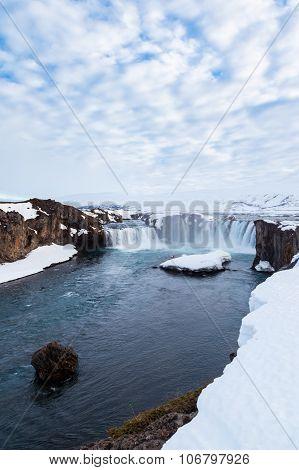 Beautiful Godafoss Falls, Iceland