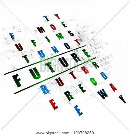 Timeline concept: Future in Crossword Puzzle