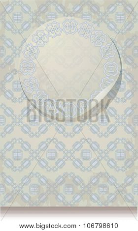 Vintage Leaflet Paper With A Geometrical Pattern Silhouette