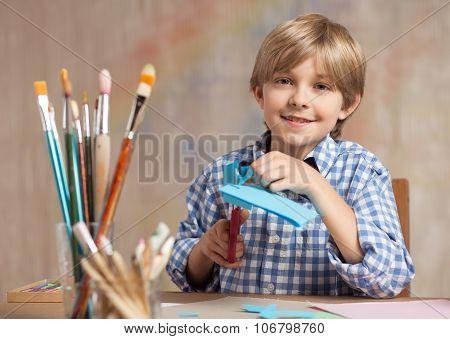 Little Artist Cutting Paper