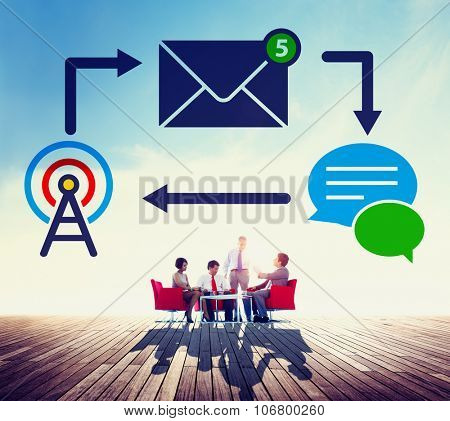 E-mail Instant messaging Internet Envelope Online Concept