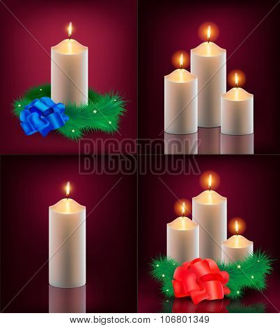 Vector set of christmas cards.