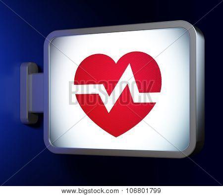 Healthcare concept: Heart on billboard background