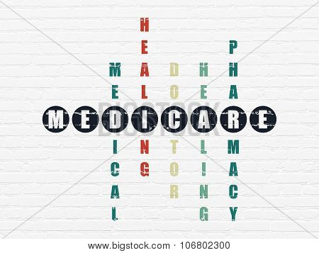 Health concept: Medicare in Crossword Puzzle
