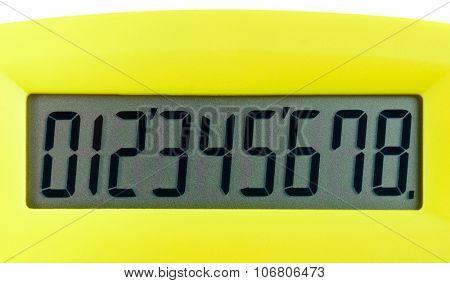 Calculator digital numbers macro view