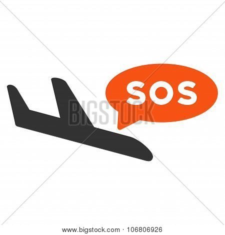 Airplane Sos Message Icon