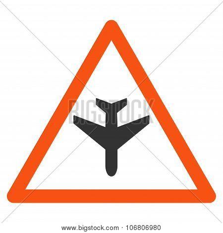 Airplane Warning Icon