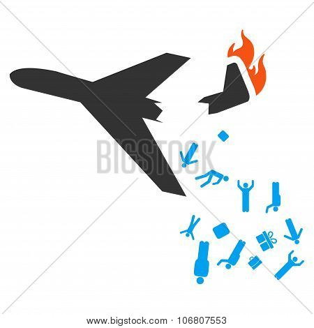 Falling Passengers From Airplane Icon