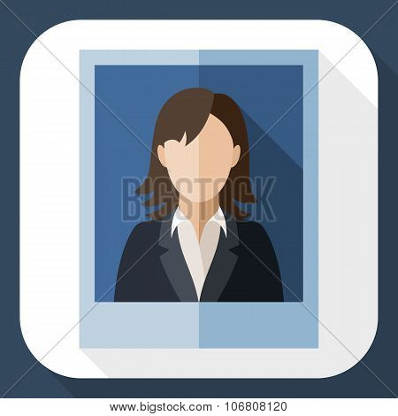 Picture Of A Woman In A Business Suit With Long Shadow