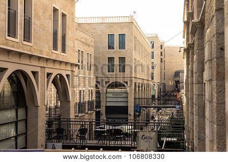 Mamilla Shopping Street. Located By Jaffa Gate,