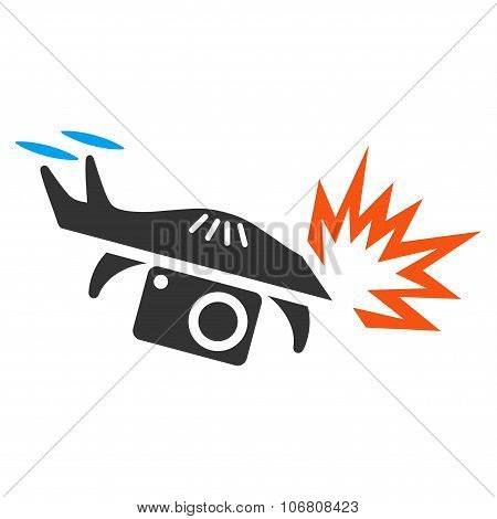 Spy Drone Explosion Icon
