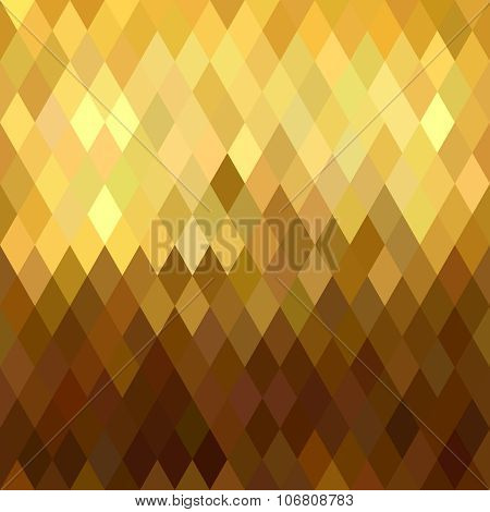 Gold Rhombus Seamless Pattern Low Poly Origami