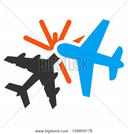 Airplane Collision Icon